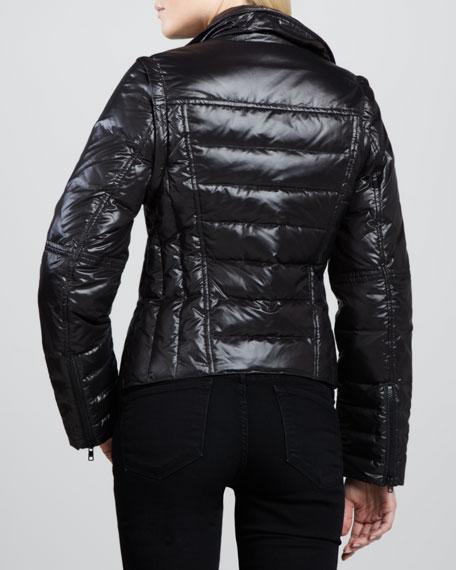 2-N-1 Puffer Biker Jacket