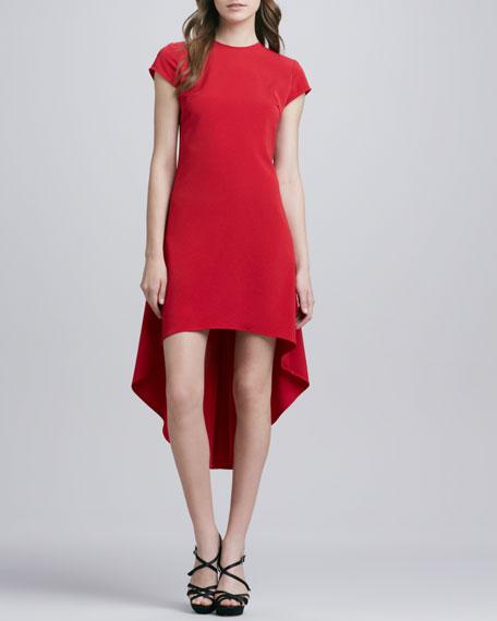 Crepe Hi-Lo-Hem Dress