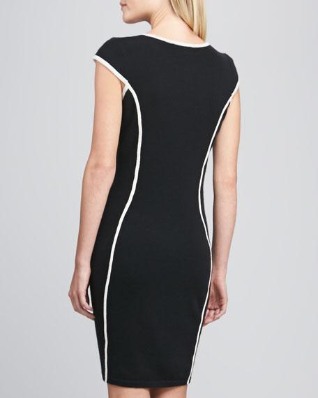 Contour Striped Knit Dress