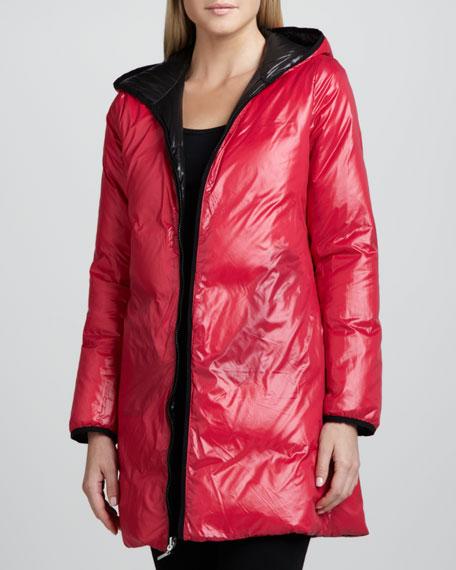 Reversible Hooded Puffer Coat