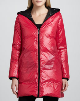 Coatology Reversible Hooded Puffer Coat