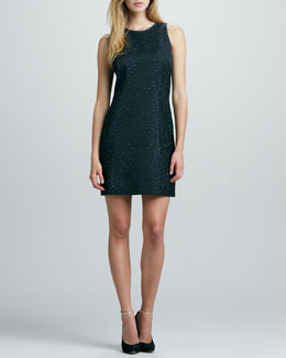 Phoebe Couture Sleeveless Space-Dye Dress