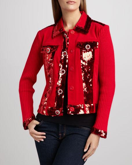 Dark in Fall Knit Jacket