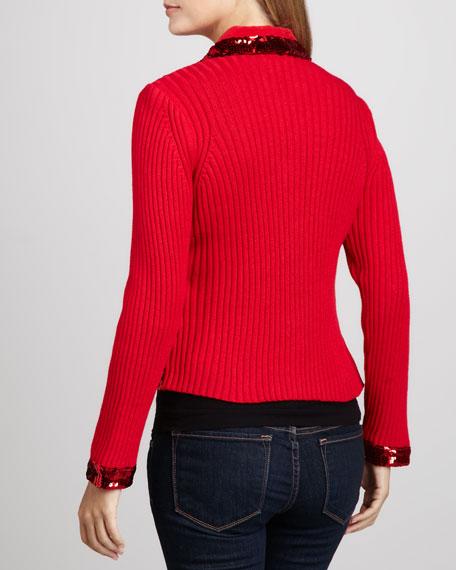 Dark in Fall Knit Jacket, Petite
