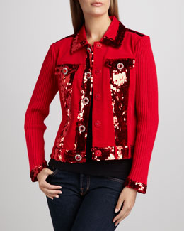 Berek Dark in Fall Knit Jacket, Petite