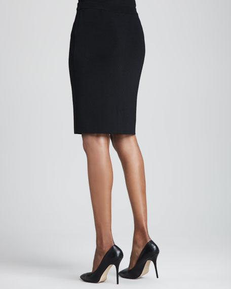 Smooth-Knit Pencil Skirt