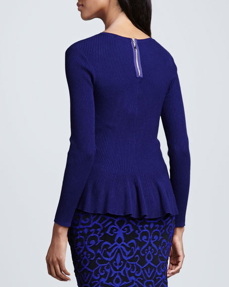 Peplum Ribbed Sweater