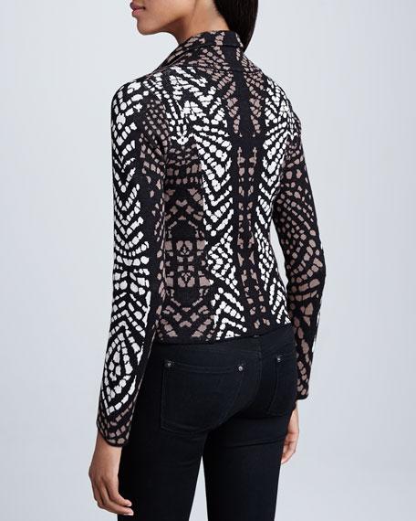 Congo-Print Zip-Front Jacket