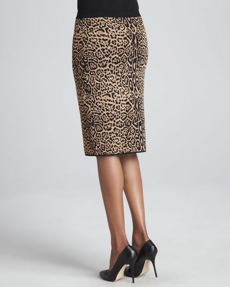 High-Waist Cheetah-Print Skirt