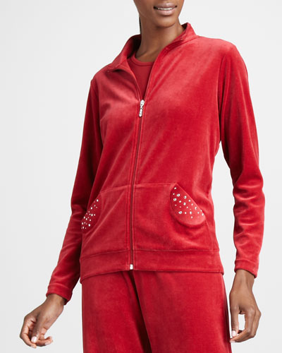 Joan Vass Velour Track Jacket