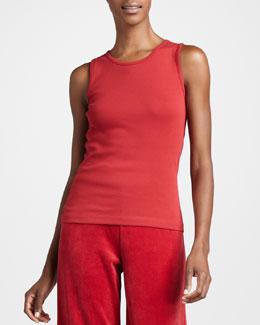 Joan Vass Sleeveless Cotton Tank