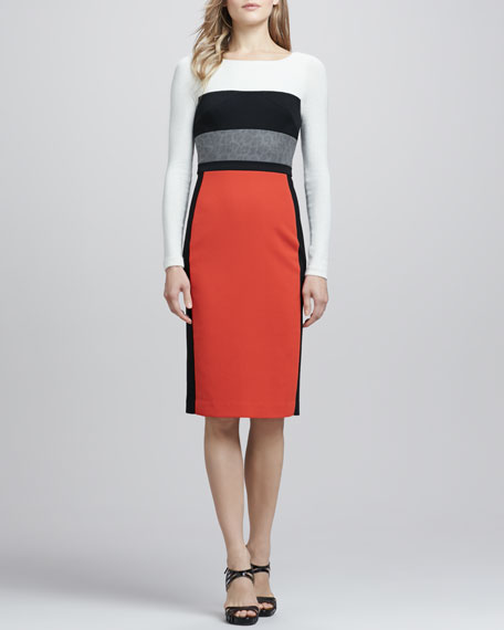 Liam Colorblock Fitted Dress