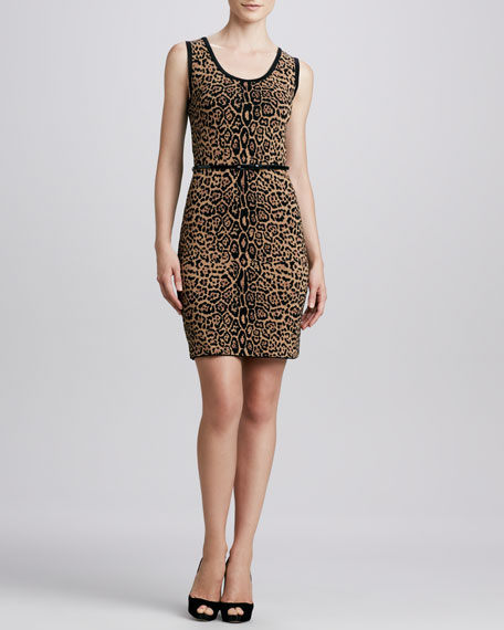 Cheetah-Print Knit Dress