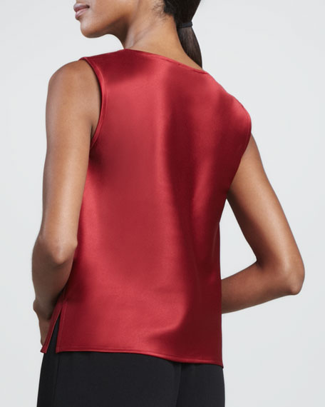 Satin Square-Neck Tank