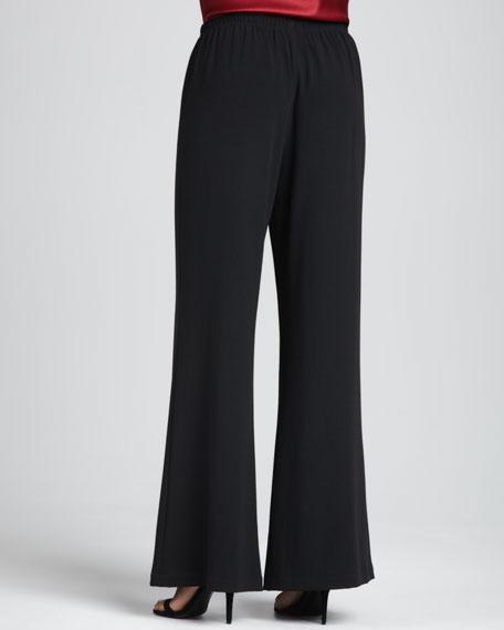 Crepe Wide-Leg Pants, Petite