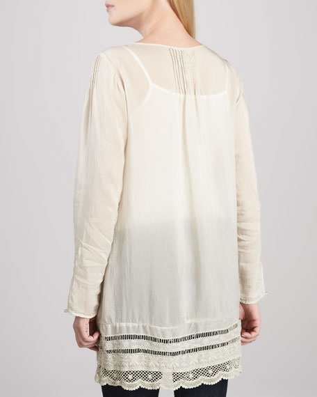 Melinda Crochet Embroidered Tunic
