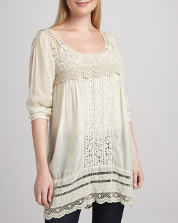 Johnny Was Collection Melinda Crochet Embroidered Tunic