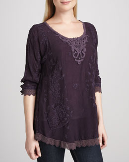 Johnny Was Collection Eyelet-Panel Tunic, Women's