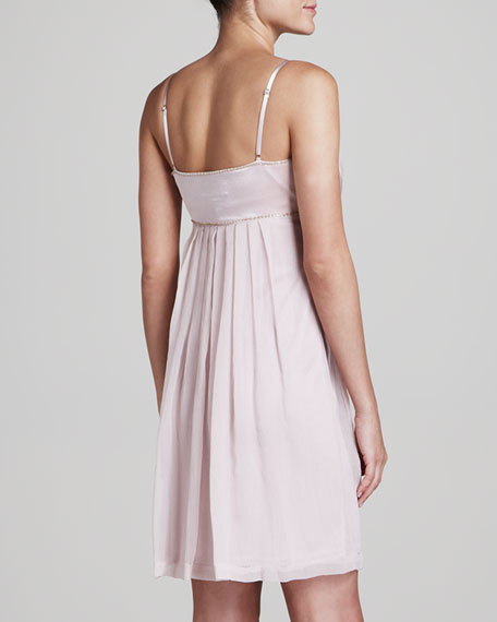 Spaghetti-Strap Pleated Dress