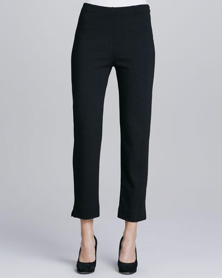 Slim Ponte Ankle Pants, Petite