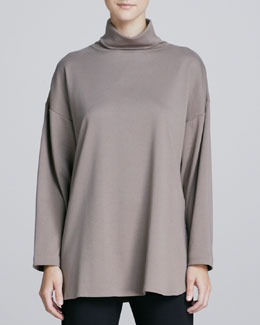 Joan Vass Oso Oversized Turtleneck Tunic, One Size