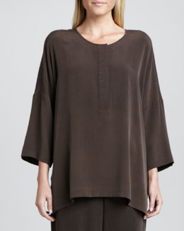 Go Silk Silk Dolman-Sleeve Easy Tunic