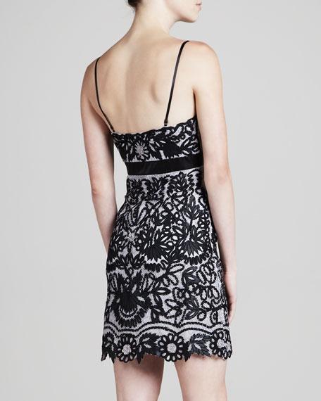Crocheted & Embroidered Slip Dress