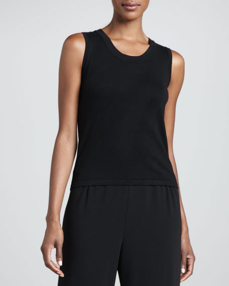 Solid Scoop-Neck Shell, Petite