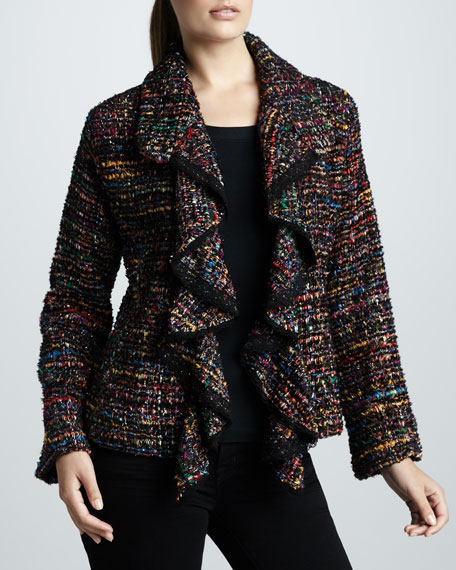 Ruffled Tweed Harmony Jacket, Women's