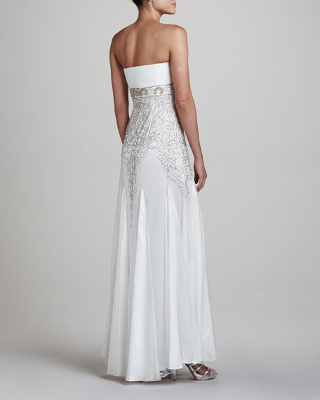 Strapless Gown with Ruched Bodice