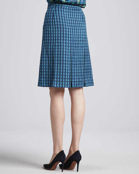 Leigh Printed Pleated Skirt