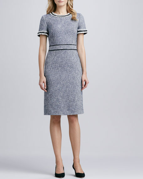 Rosemary Fitted Tweed Dress