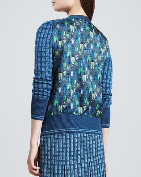 Walda Printed Scarab-Back Sweater