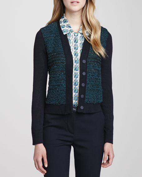 Lainey Textured Cropped Cardigan