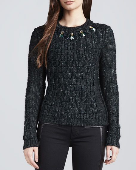 Lucy Jewel-Embellished Sweater