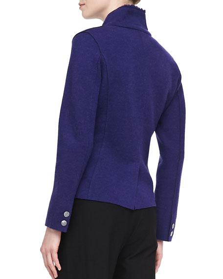Double-Knit Felt Jacket, Petite
