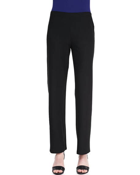 Straight-Leg Crepe Pants, Women's