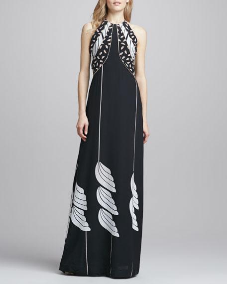 Monica Halter Silk Dress