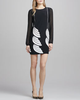 Diane von Furstenberg Bizzy Silk Printed Shift Dress