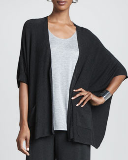 Eileen Fisher Cozy V-Neck Boxy Cardigan