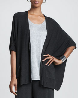 Eileen Fisher Cozy V-Neck Boxy Cardigan, Women's