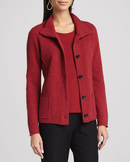 Wool Button-Front Jacket, Women's