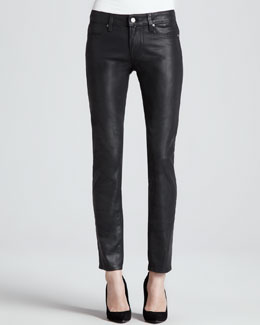 Paige Denim Verdugo Ultra-Skinny Coated Jeans, Aged Black