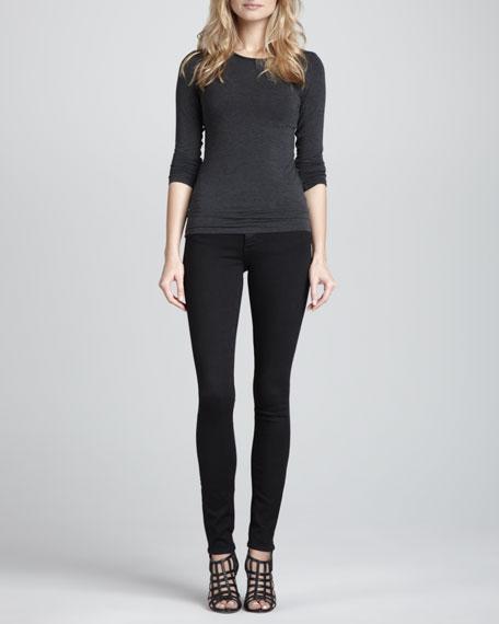 Verdugo Ultra Skinny Jeans, Black Dahlia