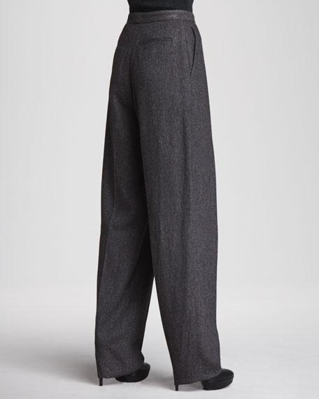 Piere Inverted-Pleat Pants
