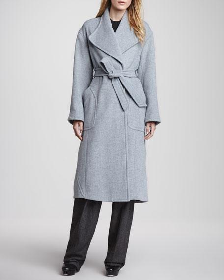 Melate Long Tie-Waist Coat