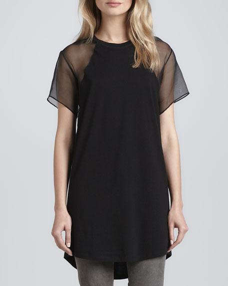 Costril Sheer-Sleeve Shirt