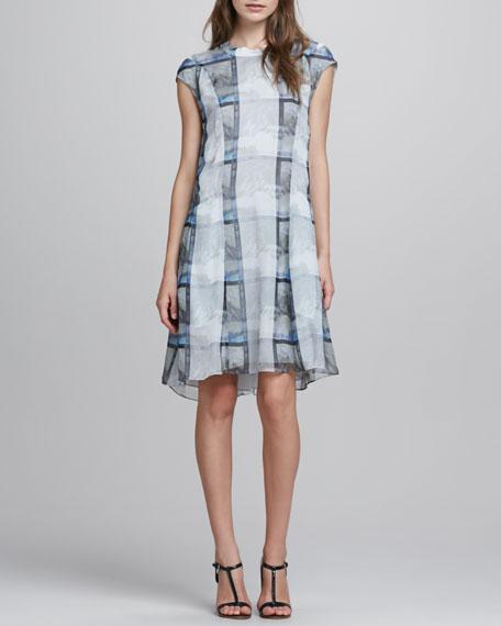 Deden Illusion-Print Dress