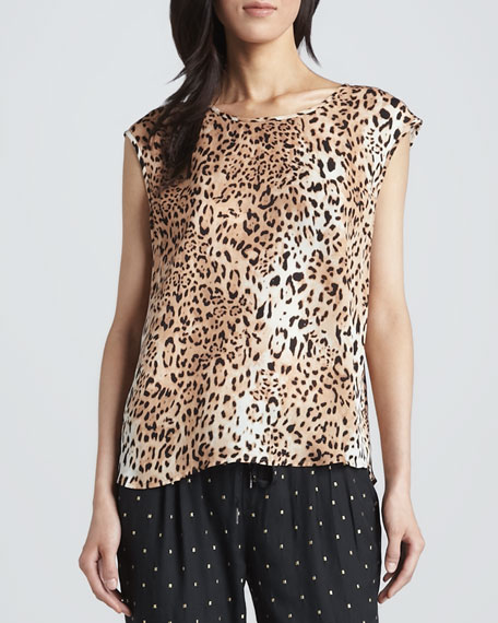 Torrance Leopard-Print Top