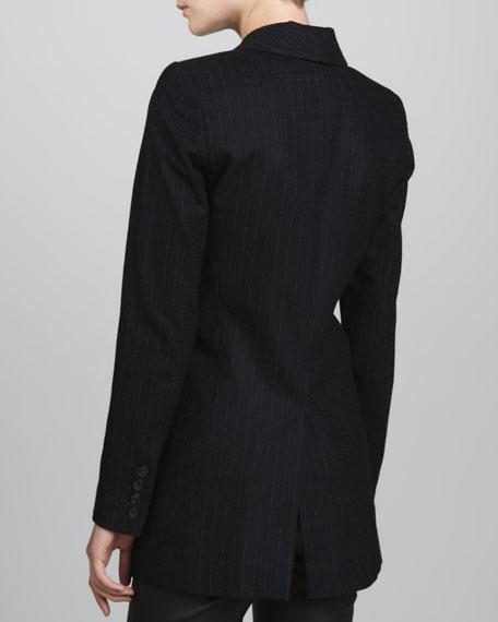 Long Pinstripe Blazer